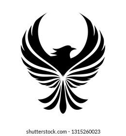 luxury phoenix logo concept.