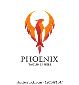 luxury phoenix logo concept, best phoenix bird logo design