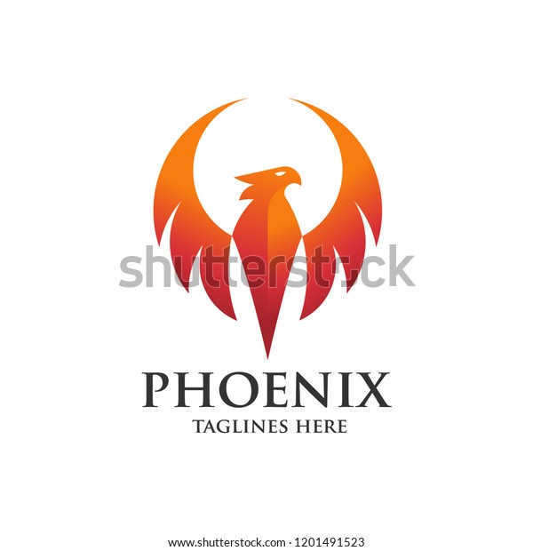 Luxury Phoenix Logo Concept Best Phoenix Stock Vector