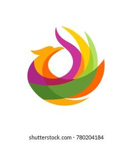 Luxury Phoenix Logo vector