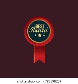 Luxury premium golden badges collection, top quality, premium quality, best award badges with gold border, vector illustration