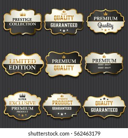 Luxury premium golden labels collection,vector illustration