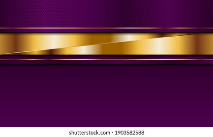 Luxury purple and golden stripes with line background. Vector illustration. Luxury background for your design.