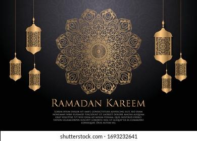Luxury Ramadan vector background islamic greeting template