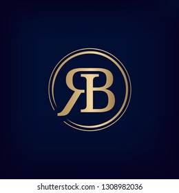 Luxury 'RB lettering logo. Vector image.