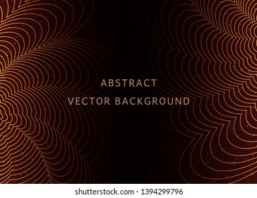 Luxury red and gold background. Design for presentation, concert, show. Vector illustration