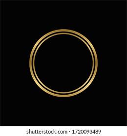 Luxury ring circle gold vector design