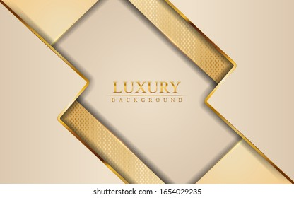 Luxury rose pink with golden lines in 3d abstract style background. Modern vector illustration