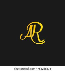 luxury Script signature letter AR designed in vector.