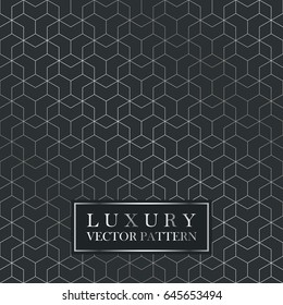 Luxury seamless geometric pattern - grid gradient texture. Dark vector background.