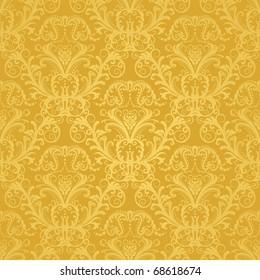 Luxury seamless golden floral wallpaper