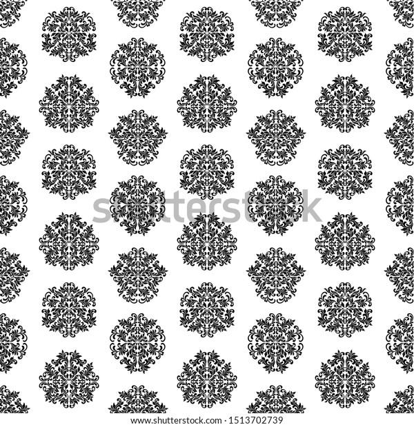 Luxury Seamless Pattern Wallpaper Vintage Style Stock Vector