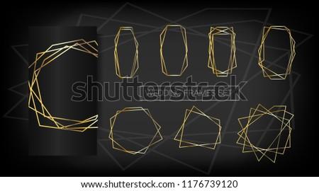 luxury set of golden frames elegant wedding invitation vector border collection for birthday