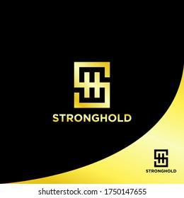 Luxury SH Logo Design. Initials Logo Design. SH Monogram