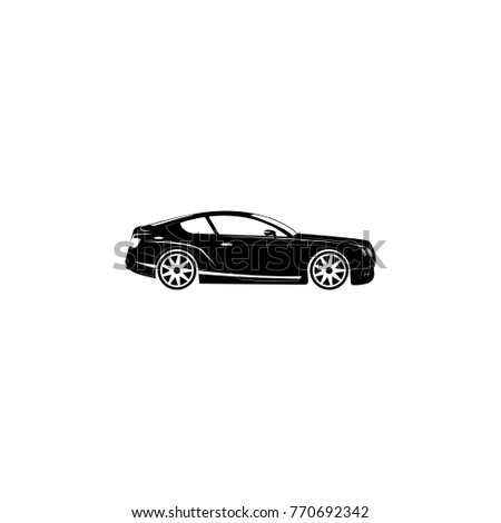 Luxury Sport Car Icon Transport Elements Stock Vector Royalty Free