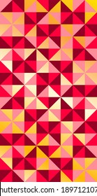 Luxury square and Triangle vector with red and gold seamless pattern background.