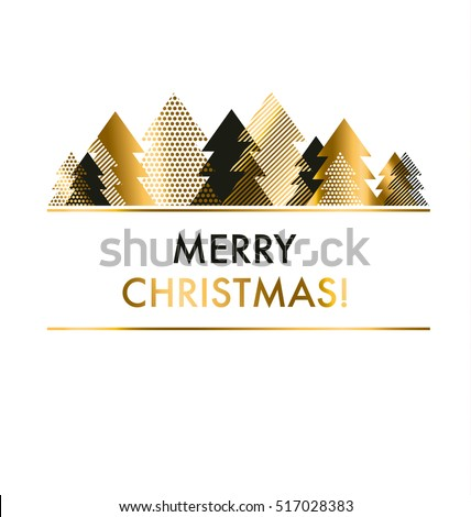 Luxury Style Black Gold Christmas Card Stock Vector Royalty Free