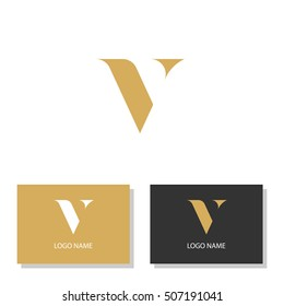 Luxury style letter V. Vector illustration.