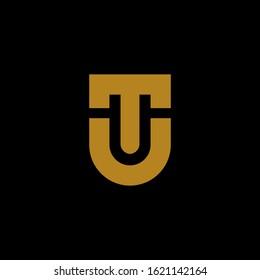 luxury T U UT TU initial letter logotype icon logo vector elegant