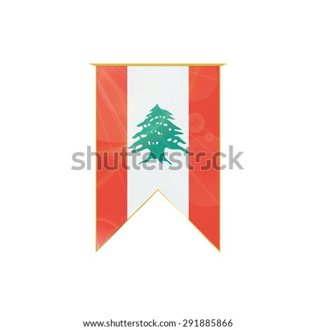 Luxury Vertical Ribbon Lebanon Flag Framed Stock Vector (Royalty ...