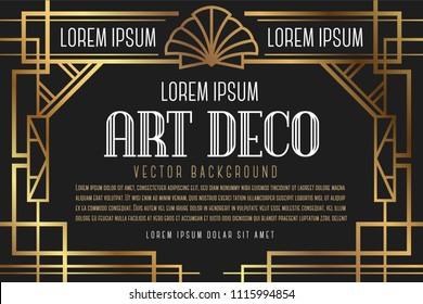 Luxury Vintage Artdeco Frame Design. Vector illustration