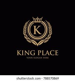 Luxury vintage crest logo. Calligraphic royal emblems and elements elegant decor. Vector crest monogram ornament for letter.
