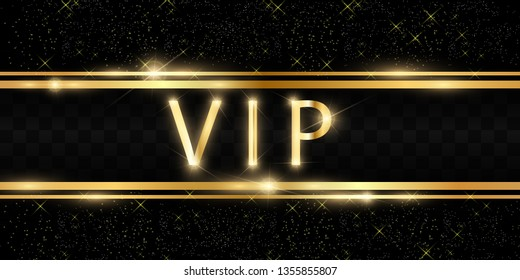 Luxury VIP banner, beautiful background with ribbons and stars.