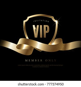 Luxury vip invitation and coupon background