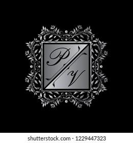 Luxury Weeding Logo , PV Letter Logo
