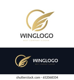 Luxury wing logo template.