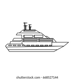 Luxury yacht isolated