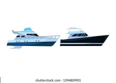 Luxury yatch fast sea travel pair