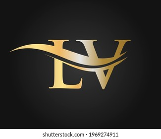 LV Letter Linked Logo for business and company identity. Initial Letter LV Logo Vector Template