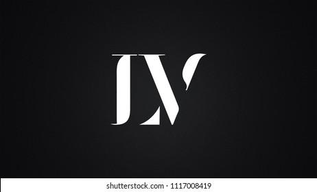 LV Letter Logo Design Template Vector