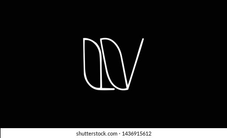 LV logo design template vector illustration