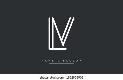 LV, VL Abstract Letters Logo Monogram