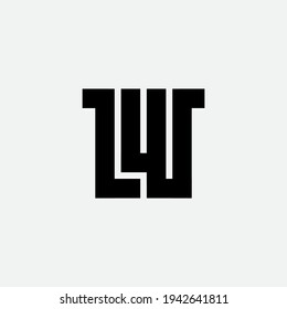 LW - creative icon or symbol. Universal elegant logotype with letter L and W. Clean and minimal Logo.