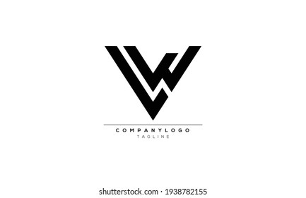 LW L AND W Abstract initial monogram letter alphabet logo design
