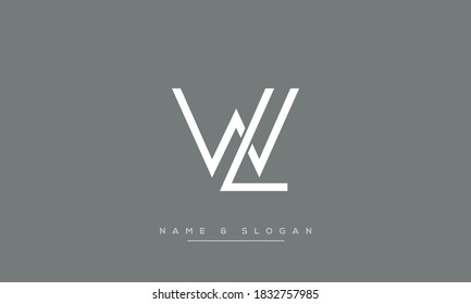 LW, WL Abstract Letters Logo Monogram