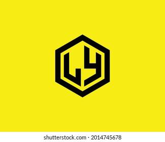LY letter logo design vector template