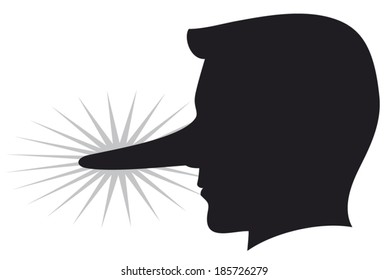 lying man with long nose
