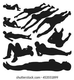 Lying People Vector Silhouettes