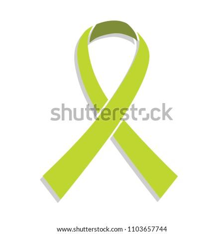 Lymphoma Cancer Ribbon Vector Stock Vector Royalty Free 1103657744