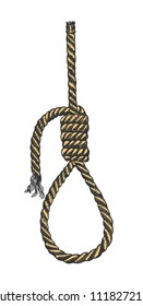 Lynch loop. A rope loop. A rope knot. Vector illustration.