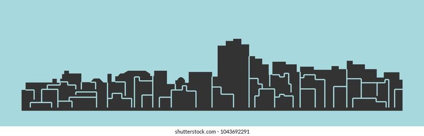 Lynchburg, Virginia ( city silhouette )