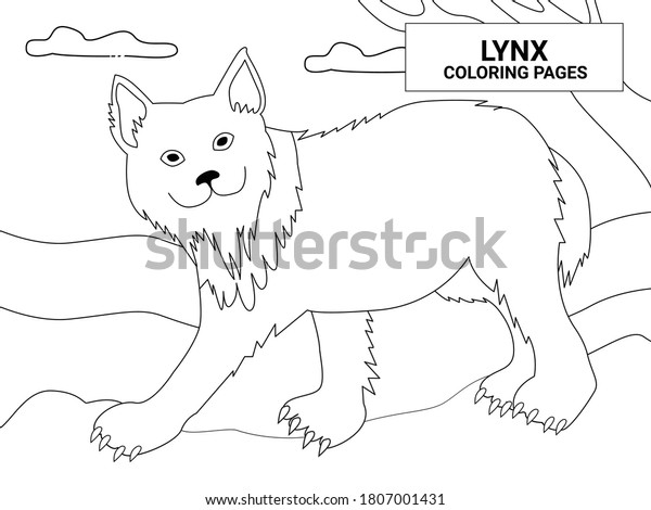 Lynx Coloring Pages Animal Coloring Pageeasy Stock Vector Royalty Free 1807001431