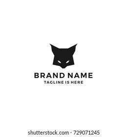 lynx head wild cat logo template vector icon illustration
