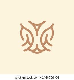 Lynx Line Art Logo Vector