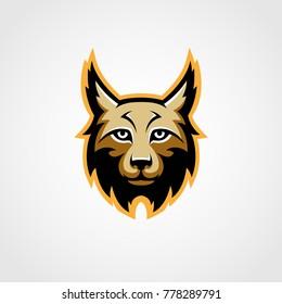 Lynx mascot logo vector