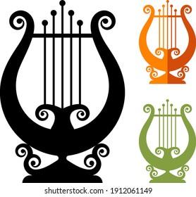 Lyre Greek String Instrument Icon Vector Illustration